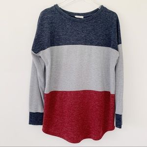 Reborn J Color Block Sweater